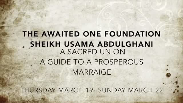 Short Clip | A Sacred Union: A Guide to a Prosperous Marriage | Sheikh Usama AbdulGhani - English